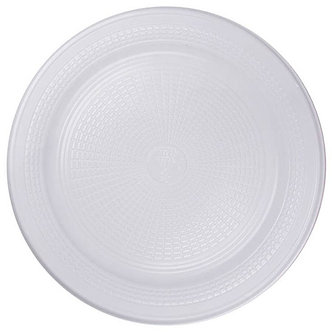 Prato Descartável para Refeições linha branca.