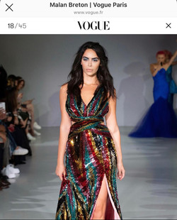Lili Rich in VOUGE for London Fashion Week 2019