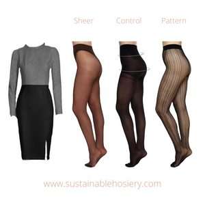 Sustainable Hosiery Sheer Control and Pattern Pantyhose