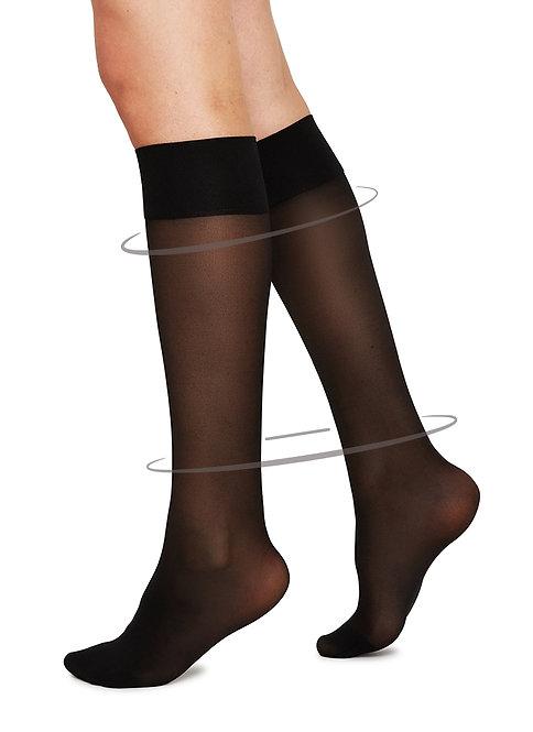 Sustainable Hosiery Swedish Stockings Bea Support Knee-HIghs Black  Australia NZ