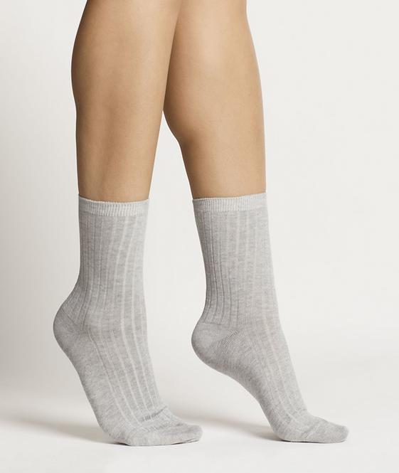 Sustainable Hosiery Woron Organic Cotton Socks Grey Australia NZ