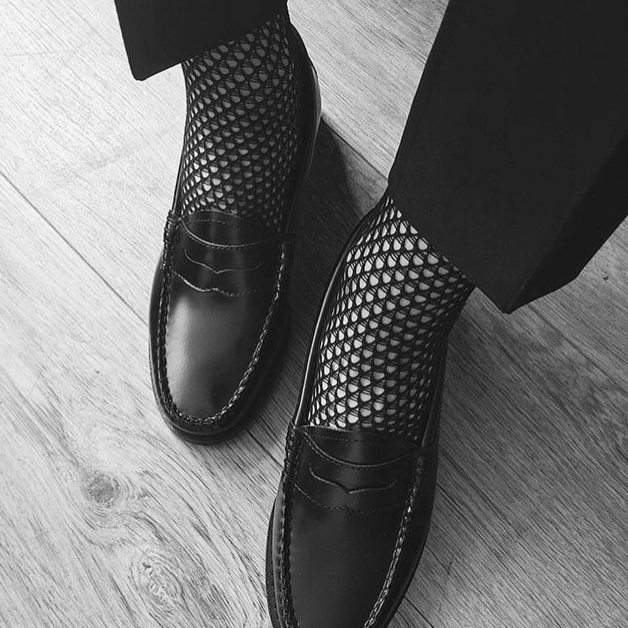 Swedish Stockings Black fishnet socks tights