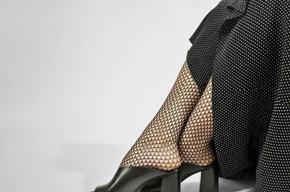 Swedish Stockings Vera Fishnet Tights Black