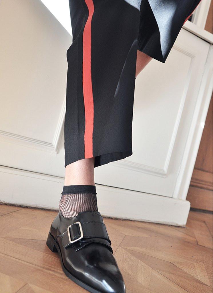 Swedish Stockings Liv Fishnet Socks Black