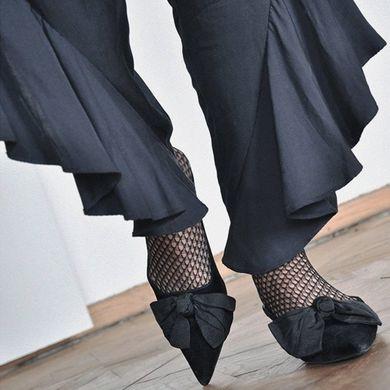 Swedish Stockings Black Fishnet Socks under pants
