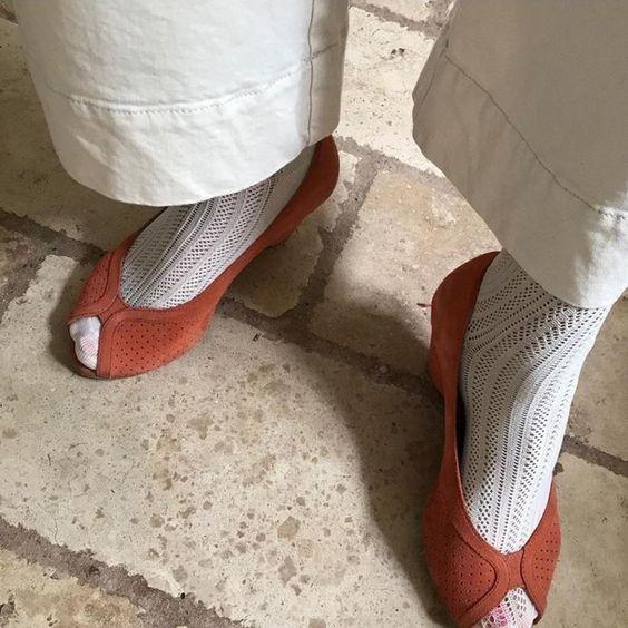 Swedish Stockings Klara Knit Socks in Ivory