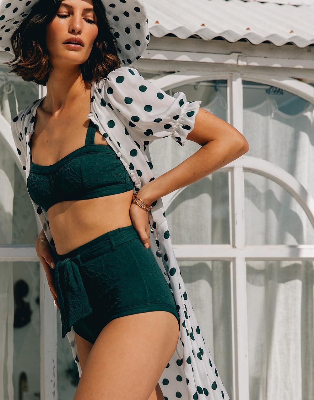 Sustainable Hosiery Peony Recycled Swimwear Australia NZ