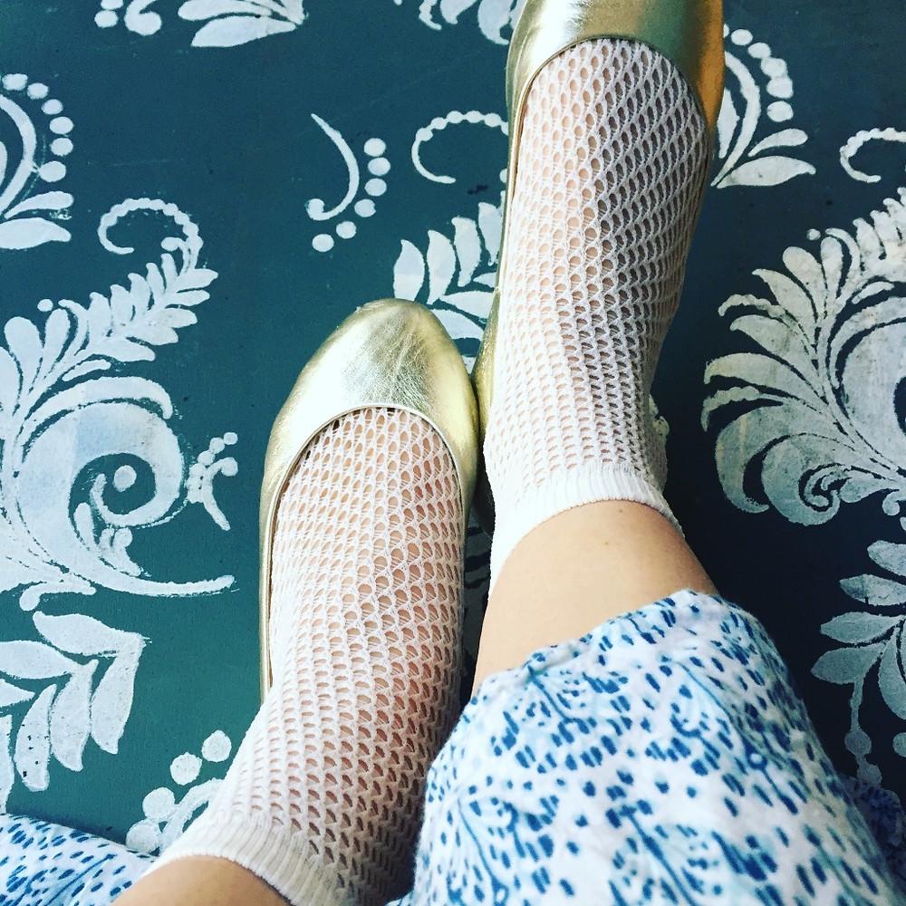 Swedish Stockings Vera Net Tights Ivory