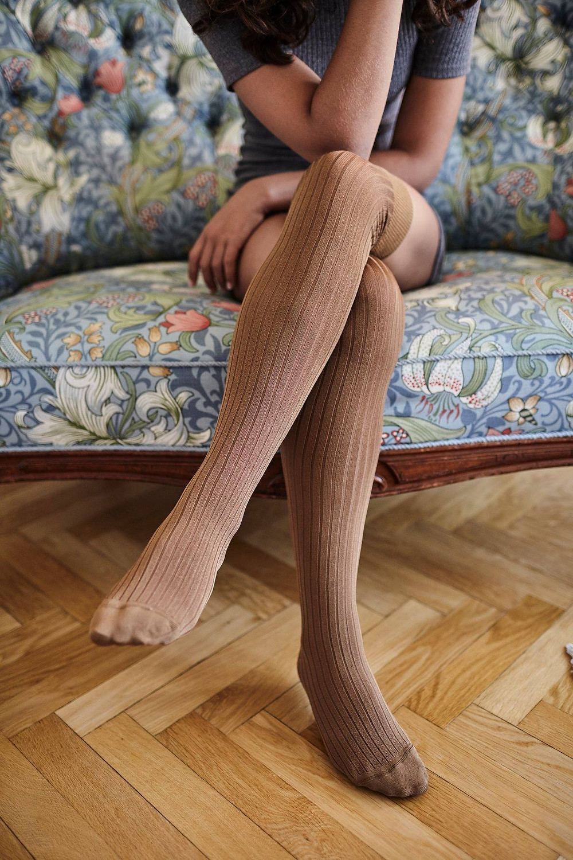 Swedish Stockings Alma Rib Over-Knee Socks