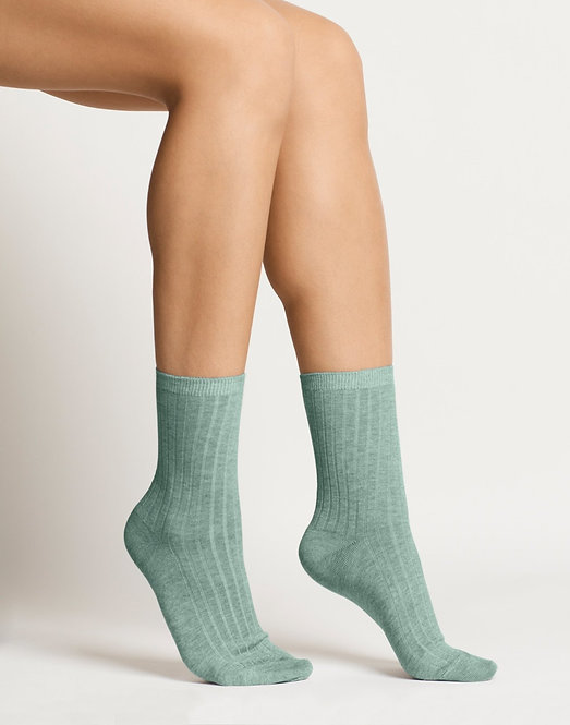 Woron. Organic Cotton Socks Aqua Green
