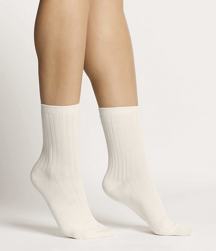 Sustainable Hosiery Woron  Organic Cotton Socks White Australia NZ