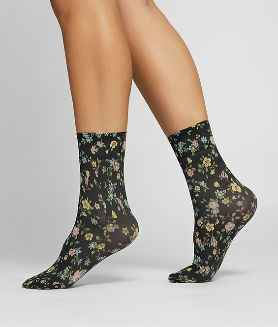 Sustainable Hosiery Swedish Stockings Ada Flower Socks Australia NZ