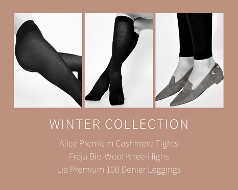 Sustainable Hosiery Swedish Stockings Winter Pantyhose Knee Highs Australia