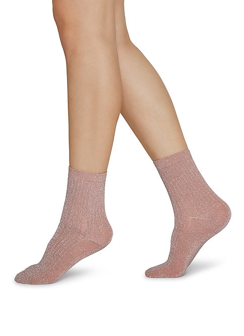 Sustainable Hosiery Swedish Stockings Stella Shimmery Socks Pink Australia