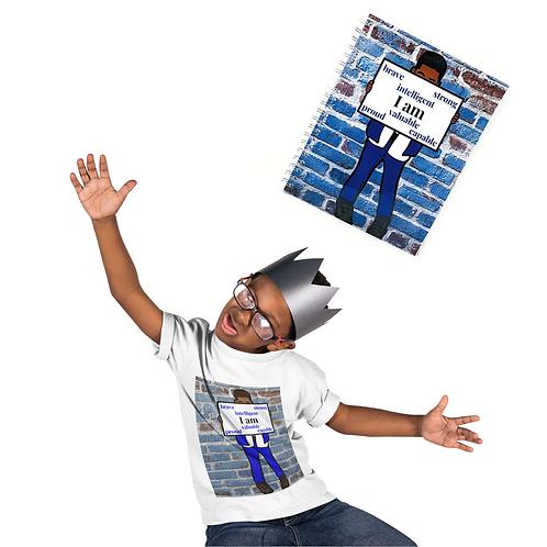 I am (Boy) Notebook & T-Shirt Set