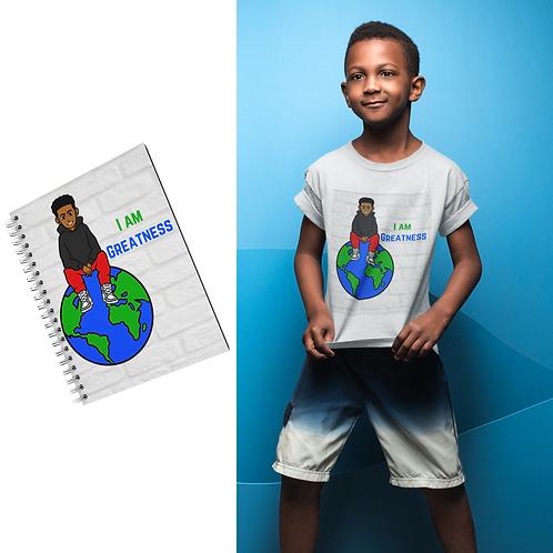 I am Greatness Notebook & T-Shirt Set