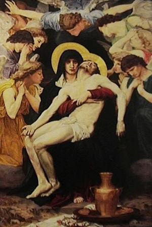 Kinart Pieta After William Adolphe Bouguereau, Cynthia Cochran Kinard, Oil, 49X36, $24,000