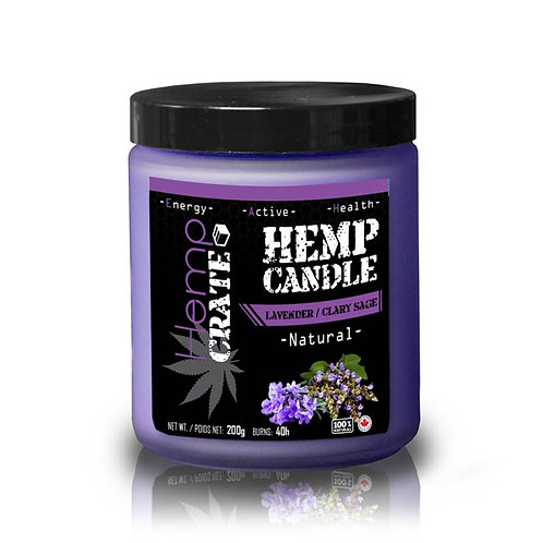 Hemp Candle - Lavender/Clary Sage