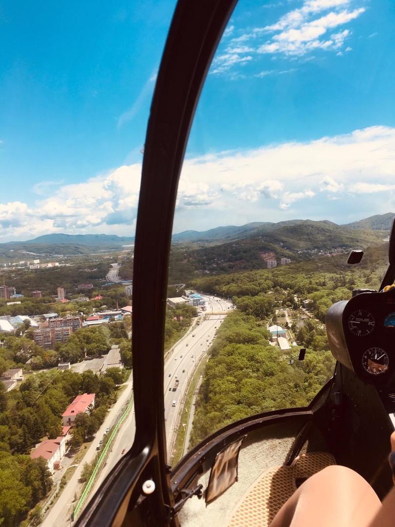 Традиционный полет на вертолете Владивосток