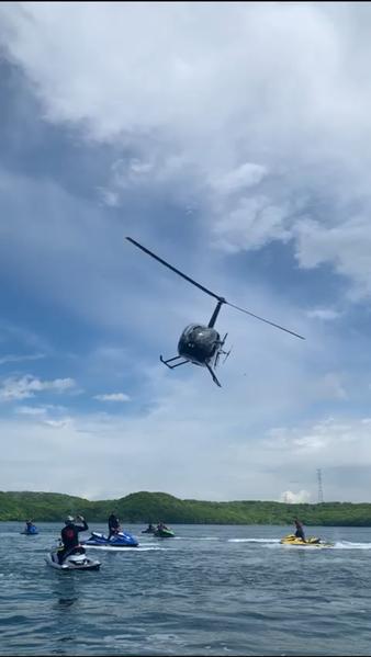 Высадка на вертолете на Тобизина