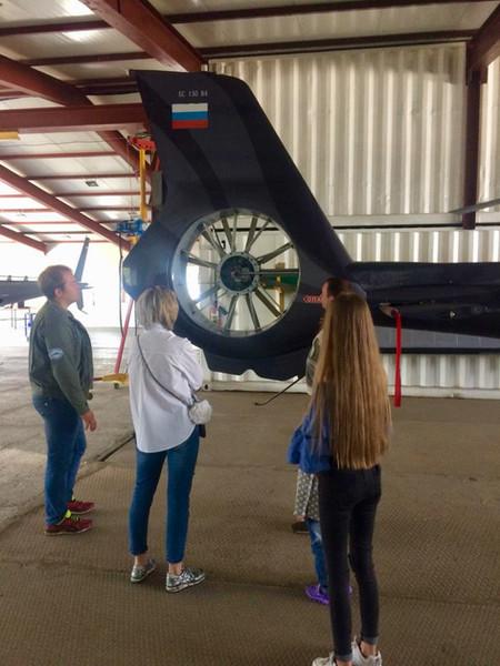 Посещение вертолетного ангара Владивосток