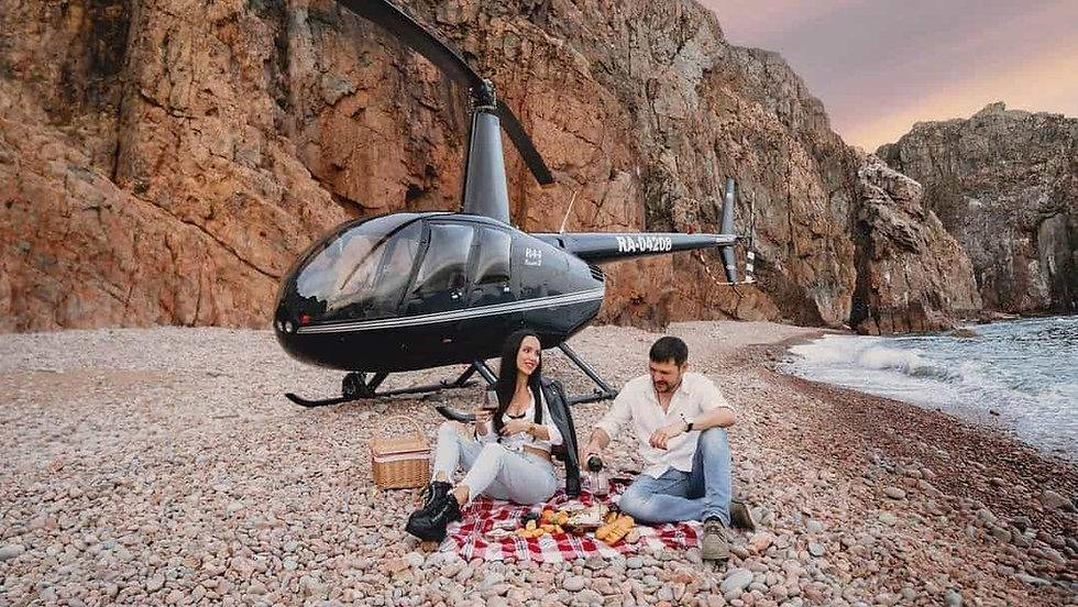 Вертолетный тур на остров Шкота во Влади