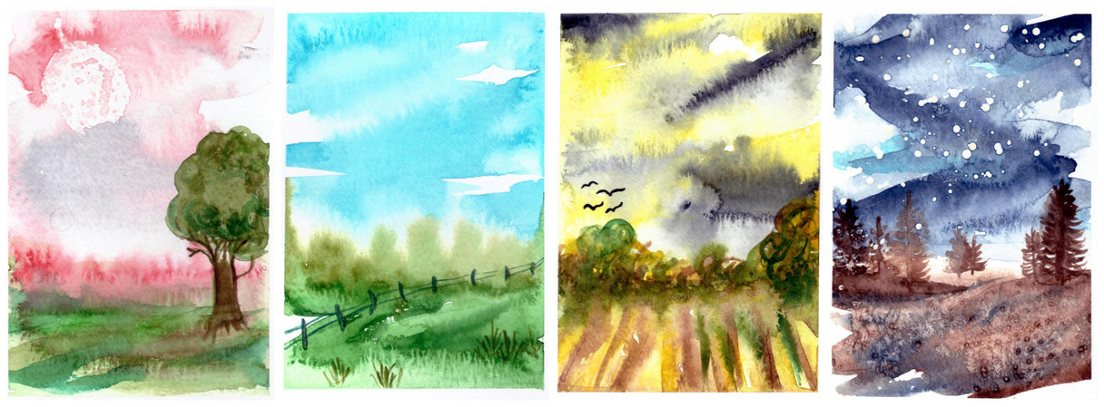 Rok v akvarelu