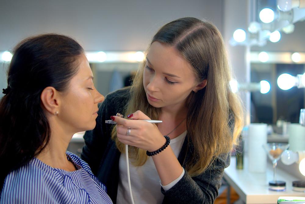 Пробный макияж аэрографом для невесты