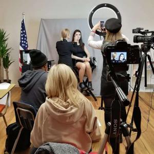 Тамара Слепченко проводит мастер-класс по макияжу в Нью Йорке