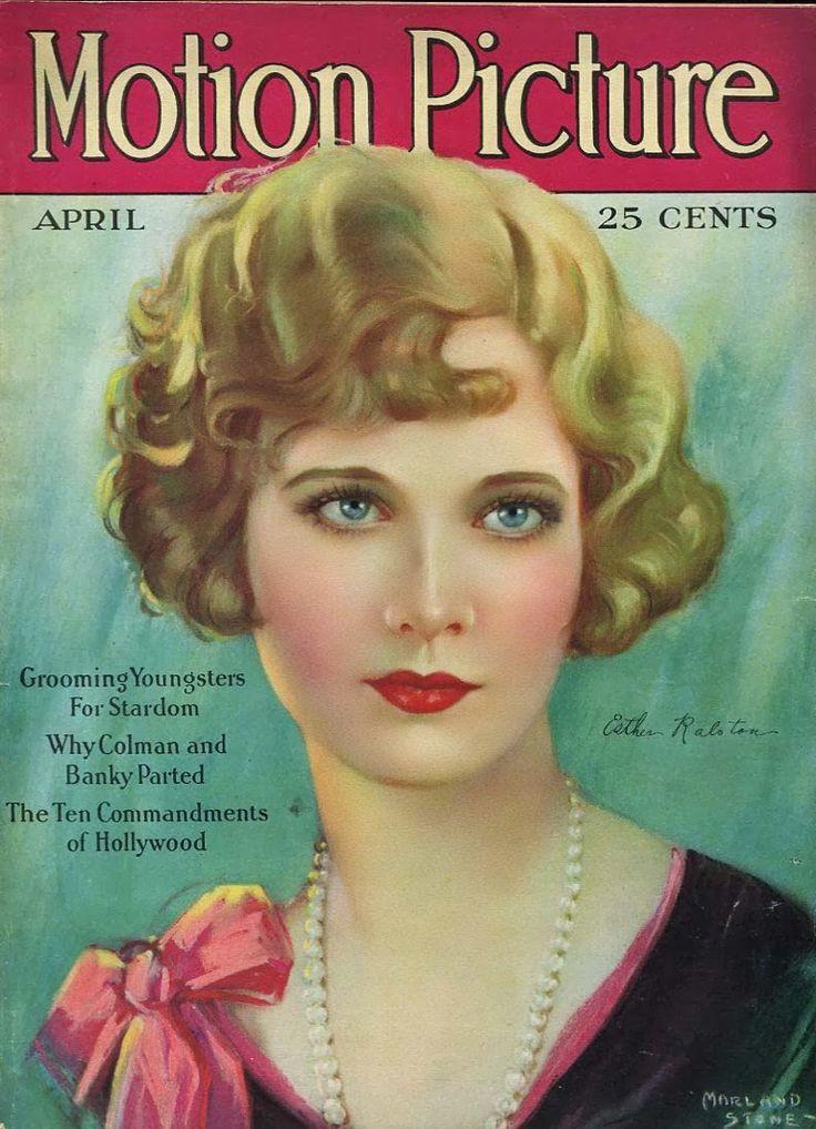 Алые губы Клары Боу на обложке журнала Motion Picture