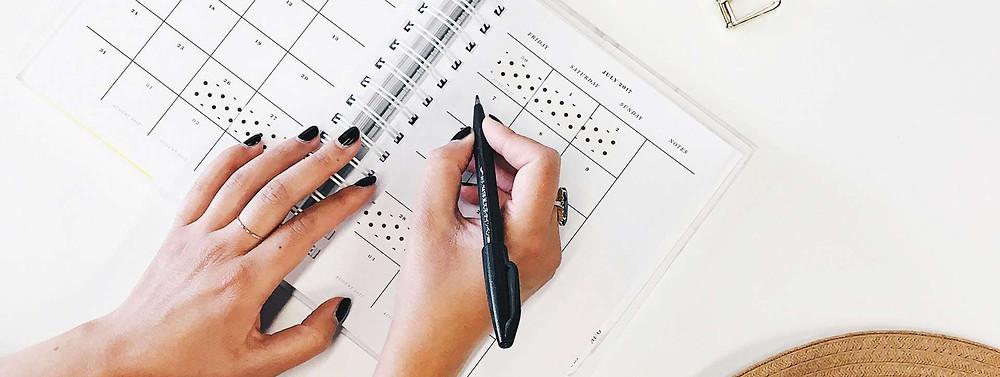 Календарь визажиста-стилиста для записи клиентов