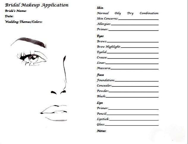 Свадебный стилист должен записывать все нюансы и примечания о макияже или прическе для невесты