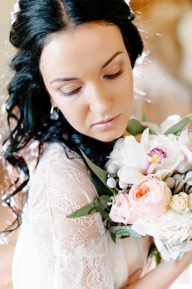 Свадебный макияж аэрографом