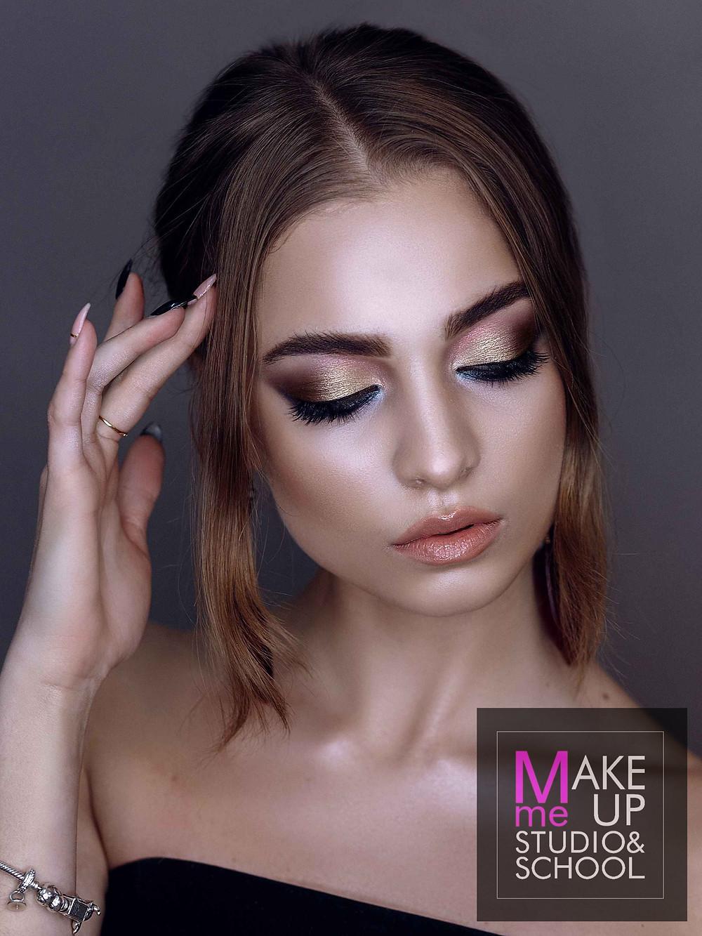Выпускная работа ученицы курса повышения по макияжу