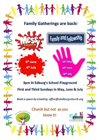 Flyer for Messy Church and Family Fellow