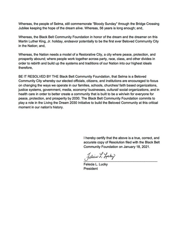 Black Belt Community Foundation Resolution 2 of 2