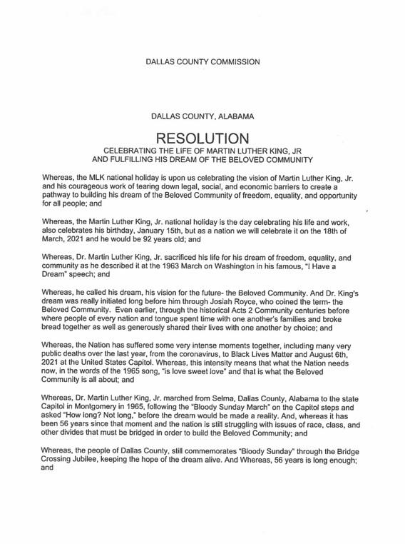Dallas County Commission 1 of 2