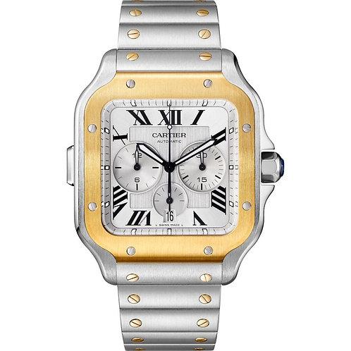 Cartier Santos Chronograpgh XL Yellow Gold/Steel