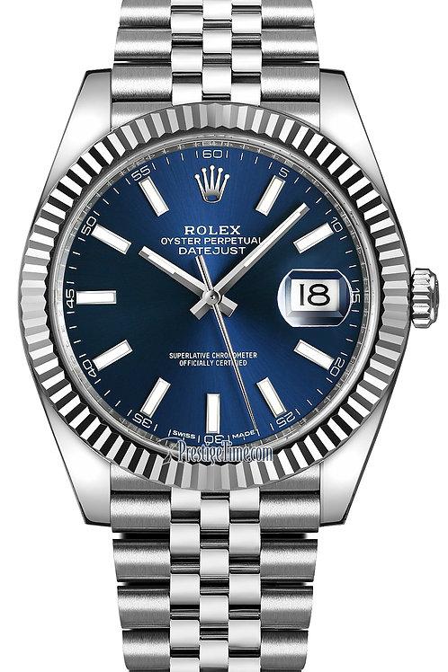 Rolex Datejust Blue Dial Jubilee Ref 126300