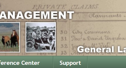 Researching on the Bureau of Land Management Website