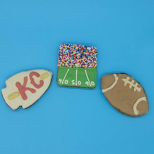 KC Football Cookies