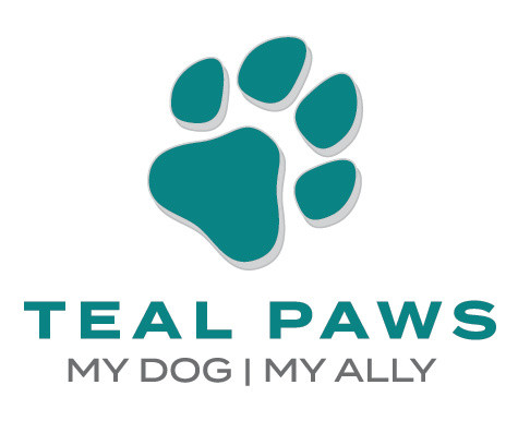 Teal Paws. Dog. Ally.