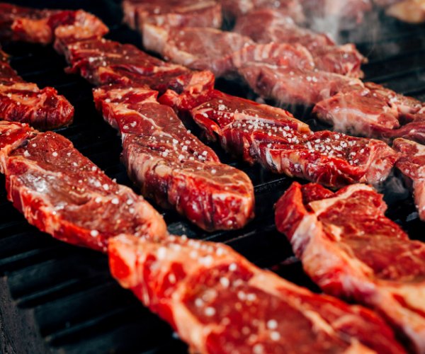 Red meat is high in saturated fats which have been proven to cause inflammation in our bodies.