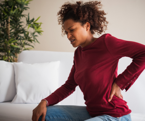 lady with low back pain