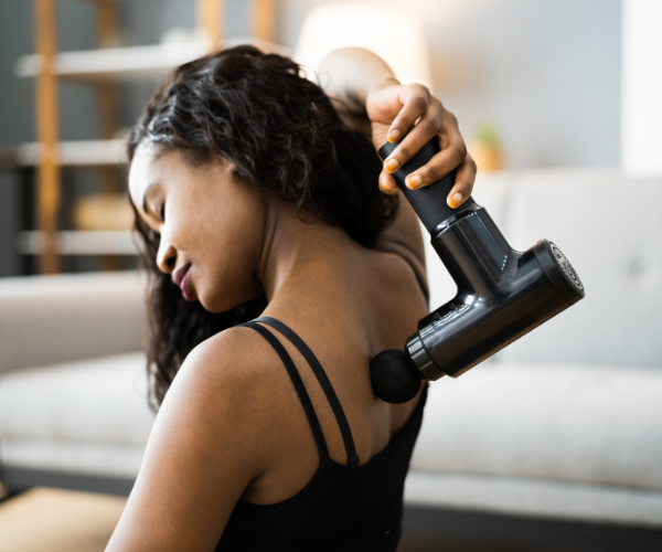 Massage guns are not invasive and are only used on the external parts of the body