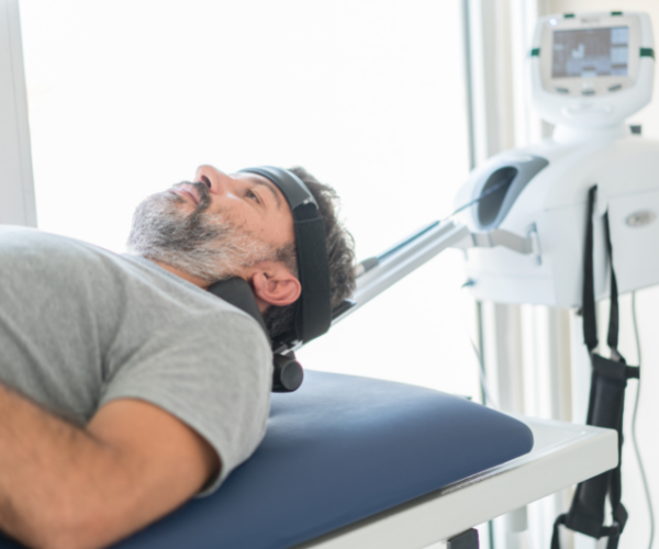 Inversion therapy is a form of spinal traction that stretches out the spine and helps to relieve low back pain
