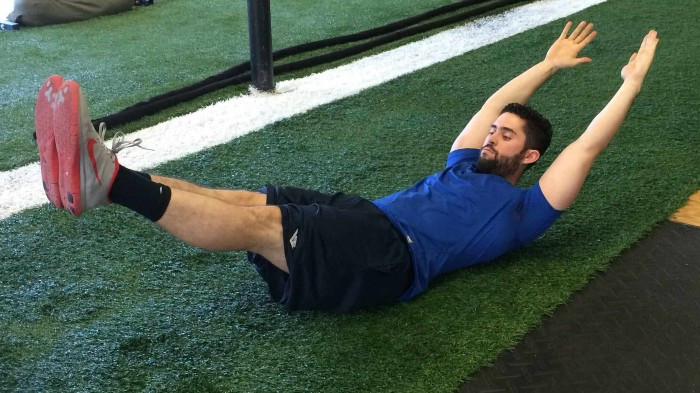 Double Leg Lifts are a great way to strengthen your core but they are a big no-no for those with lower back pain.