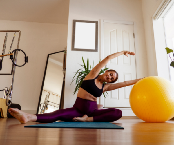 Pilates can be done at home with minimal equipment.