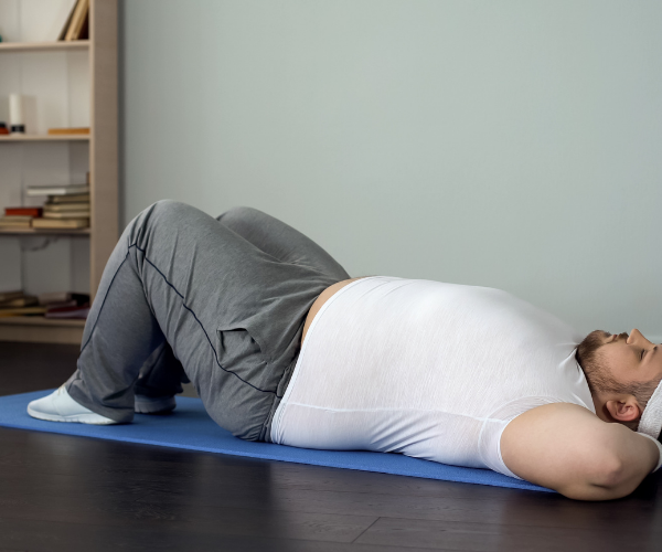 The main benefit of the pelvic tilt is to strengthen your lower abdominal muscles and stretch out your lower back.