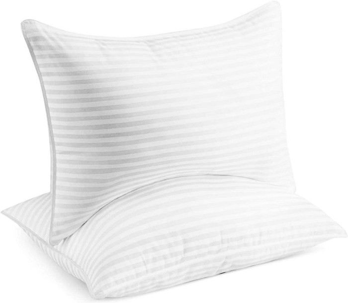 The Beckham Hotel Collection Gel Pillow is expertly tailored to ensure maximum  comfort for any and all sleeping positions.